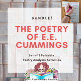E.E.Cummings Bundle of 3 Poetry Foldable Analysis Activities