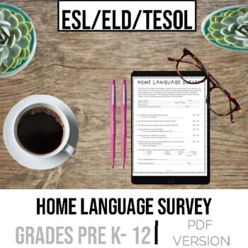 Home Language Survey for ESL