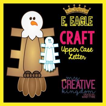 E - Eagle Upper Case Alphabet Letter Craft
