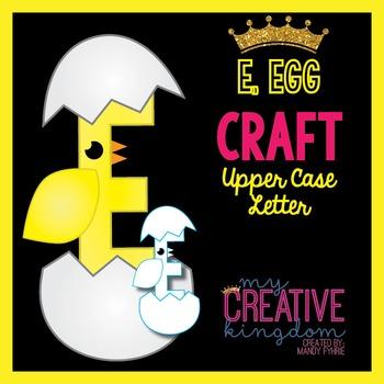 E - Egg Upper Case Alphabet Letter Craft
