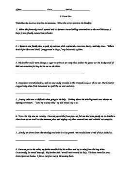 E-Error / Easy Spelling Errors Test or Quiz 2