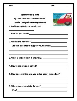 E-F Reading Comprehension Pack