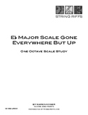 E Flat Major Scale Gone Everywhere But Up