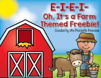 Farm Freebie NO PREP {for Kindergarten & 1st}
