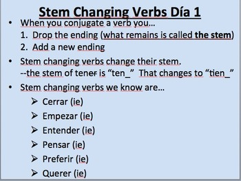E--IE Stem Changing Verbs__Present Tense__Initial Presentation