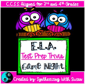 E.L.A. C.C.S.S. Testing Trivia Prep Game