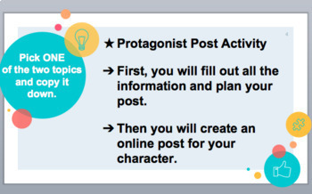 "ELA ""Protagonist Post"" Mock Online Post & Expository/ Explanatory Writing"