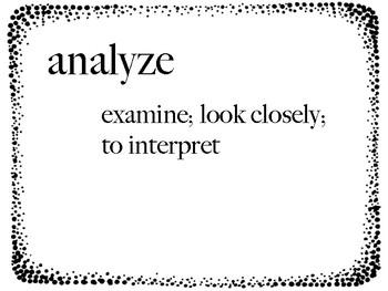 E/LA Academic Vocabulary Definitions