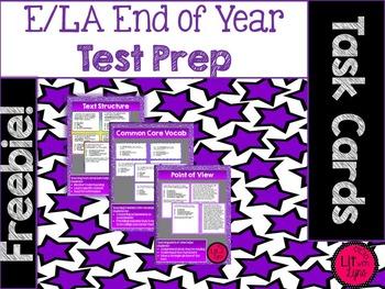 ELA Test Prep Task Cards- Sample