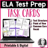 Digital ELA Test Prep Task Cards