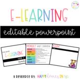Distance Learning Editable PowerPoint Freebie