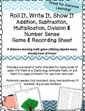 Distance Learning Numbers, Addition, Subtraction Math Game