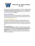 E-Learning Module - TEMPLATE - PPL (Healthy and Active Living)