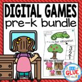 E-Learning Pre-K Digital Learning {Growing} Bundle (PreK Distance Learning)