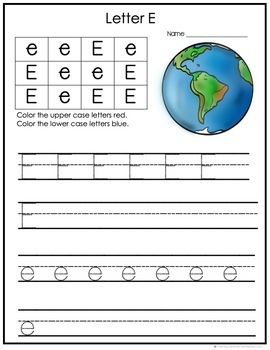 Alphabet Books: Freebie Letter E and Activities {Freebie}