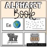 Letter E Alphabet Book Freebie
