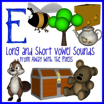 E - Long and Short Vowel Clip Art - Large High Quality Clipart for Teachers