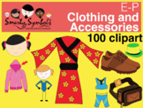 E-P Clothing and Accessories Set: 100 High Res Png