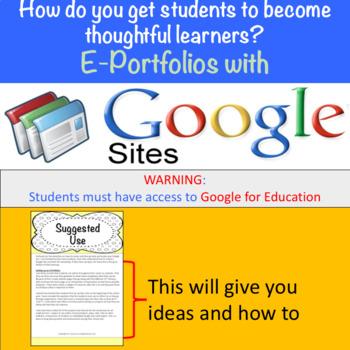 E-Portfolios with Google Sites