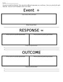 E+R=O/Event Response Outcome/Classroom Management/Community Building