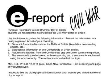 E-Report: Short web-based reports for middle school students