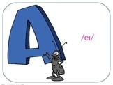 "E.S.L. ""The English Alphabet"". Power Point Presentation without audio."
