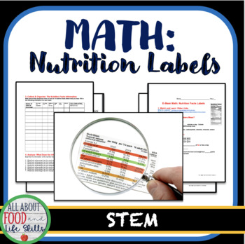 STEM Nutrition Math, FACS FCS