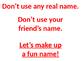E-Safety Username Presentation
