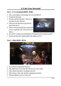 E.T. The Extra-Terrestrial - Viewing Questions