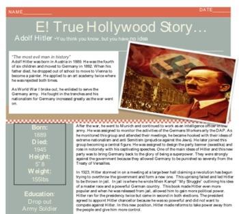 E! TRUE HOLLYWOOD STORY Adolf Hitler!!!