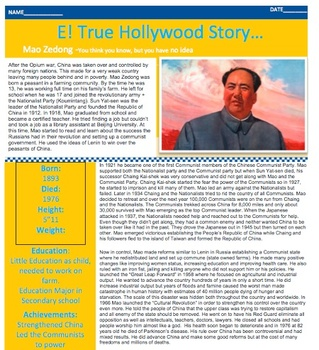 E! TRUE HOLLYWOOD STORY Mao Zedong