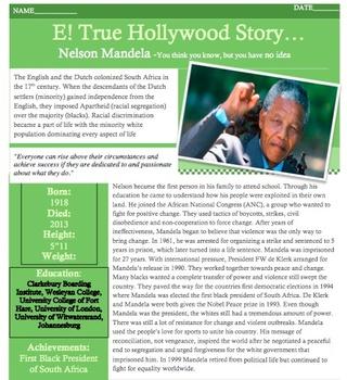 E! TRUE HOLLYWOOD STORY Nelson Mandela