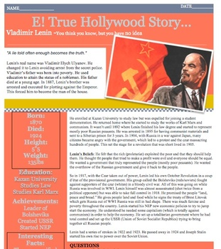 E! TRUE HOLLYWOOD STORY Vladimir Lenin