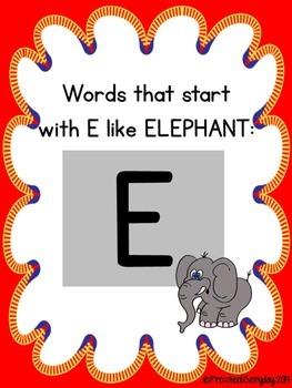 E and H Initial Consonant Sort