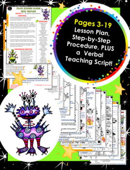 E book-Creative Alien Watercolor Pencil Paintings with Color Scheme and Texture
