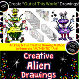 Creative Alien Watercolor Pencil Paintings with Color Scheme and Texture