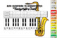 Eb to Concert Pitch Transposition Chart for Alto Saxophone