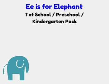 E is for Elephant Activity Pack