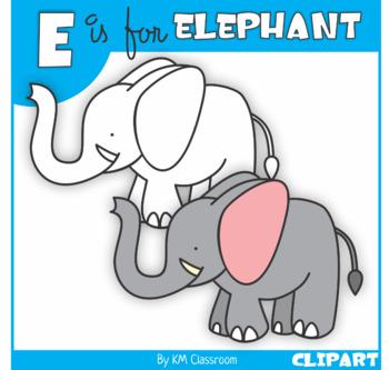 E is for Elephant Clip Art