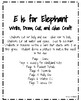 Letter E is for Elephant Craft: Do Your Ears Hang Low?