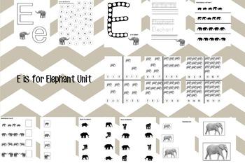 E is for Elephant Unit