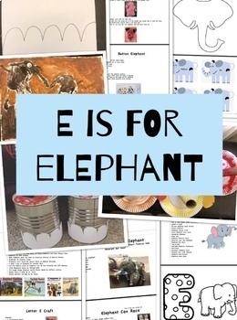 E is for Elephant Workbook