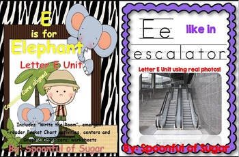 E is for Elephant/E Like in Escalator (2 Complete E Units!)