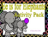 Letter of the Week - E is for Elephant Preschool Kindergarten Alphabet Pack
