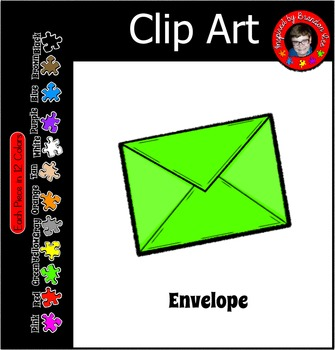 E is for Envelope ~ Free Commercial Use Clip Art ~ 12 Fun Colors