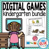 Kindergarten Digital Learning {Growing} Bundle (Kindergarten Distance Learning)