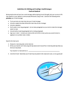 E-mail Writing, Etiquette and Analysis Project