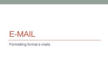 E-mail and Memo