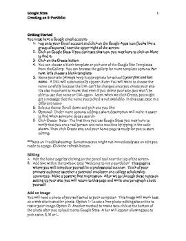 Google Sites--E-Portfolio