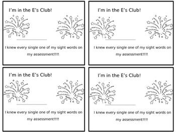 E's Club Certificate